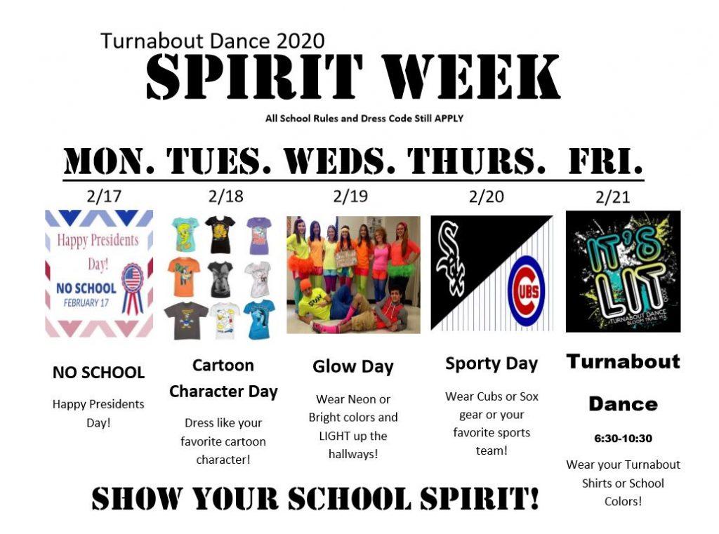 Turnabout Spirit Week 2020
